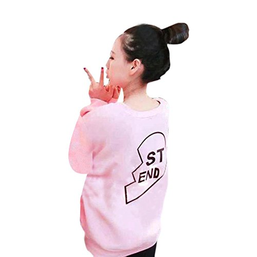 Anboo Bestie BFF Best Friend BE FRI/ST END Sweatshirt Matching Outfit Sister Sweater (M, ST END (Bonnie Clyde Costume)