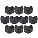 Kmise Black Hard Plastic Guitar Amp Cabinets Amplifier Speaker Cabinet Corner Protectors L Size Pack of 10
