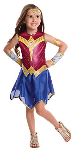 [Rubie's Costume Batman vs Superman: Dawn of Justice Wonder Woman Value Costume, Large] (Womens Boxing Costumes)