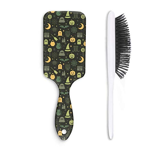 Cute Hair Brush Halloween pumpkin spider owl ghost black Anti-static Unisex Personalized comfortable Wet hair Styling Womens Head comb]()