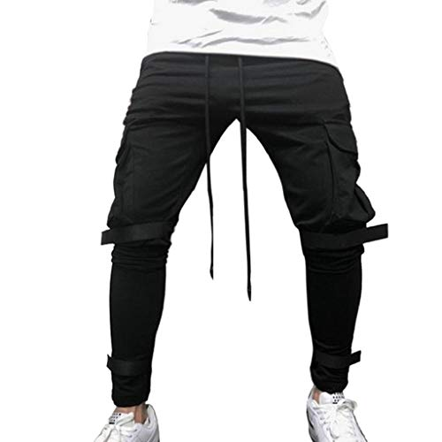 Boys Long Sleeved Fleece Pant - REYO Men's Casual Sweatpants, Drawstring Jogger Pant Sweatpants Overalls Elastic Fitness Training Trousers Pocket