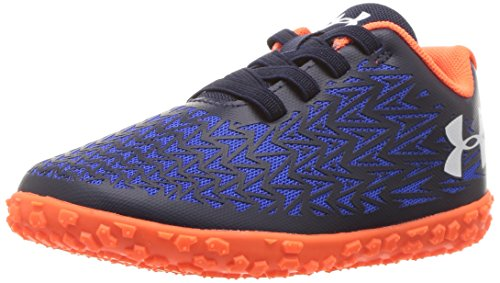 Under Armour Boys' Clutchfit Road Hugger Sneaker, Midnight Navy (410)magma Orange, 9k
