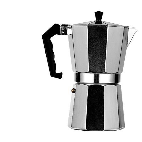 DAPAIZI Cafetera Italiana para Espresso De Aluminio,1/3/6/9/12 Tazas,Apta para Todo Tipo De Cocinas Salvo Inducción…