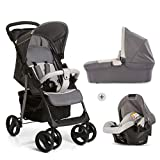 Hauck Shopper SLX Trio Set Lightweight Travel System, from Birth, Grey (Car Seat, Carrycot and...