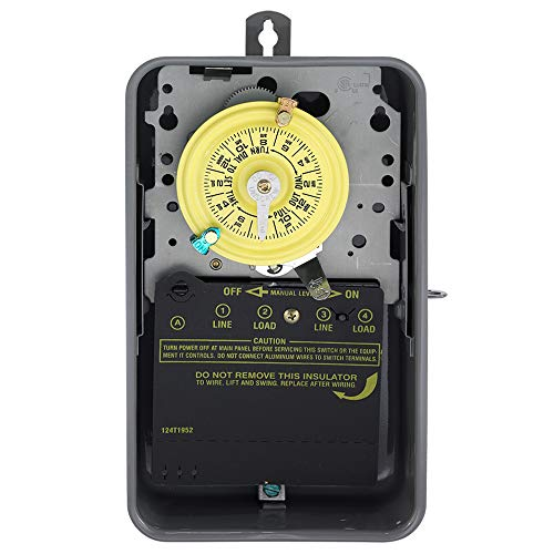 Intermatic T104R Electromechanical Timer, 208-277 V, 40 A, 1-23 hr, 1-12 Cycles per Day ()
