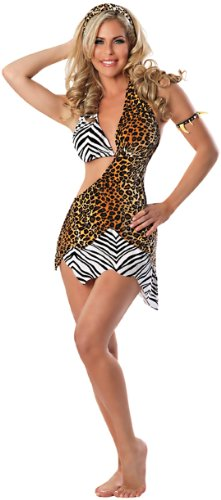 Delicious Wild Thing Cave Woman Costume, Multi, X-Small