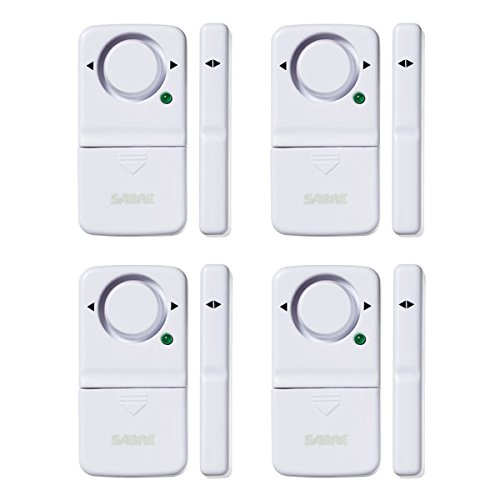 (SABRE Wireless Home Security Door Window Burglar Alarm with LOUD 120 dB Siren - DIY EASY to Install)