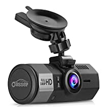 Oasser Dash Cam Car Full HD 1080P Dashboard Camera Dash Cam for Cars with G-Sensor 170° Angle Night Vision Loop Recording Mute Function GPS Supporting 1.5 Supporting up to 32GB TF Card U1[ImprovedMount]