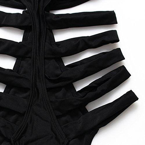 YONGYI Europa y el negro grabado incluso en el bañador más hilo de tejer un apretado traje de baño