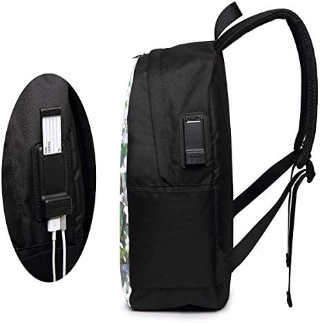 Travel Bag Black Version 3D Printing 17in with USB Backpack,School Bag Mountaineering Bag Chenhgee Free Spirit