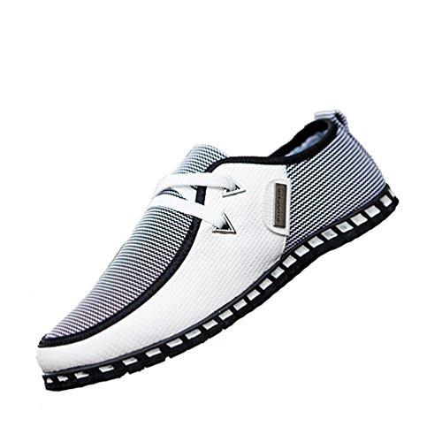 Conduite Pois Hommes De Et Printemps Casual Chaussures Xiguafr Classique Automne Légère Blanc aRqA4a