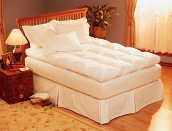 Pacific Coast Luxury Baffle Box Feather Bed - Calif. - Pacific Mattress Pad Coast