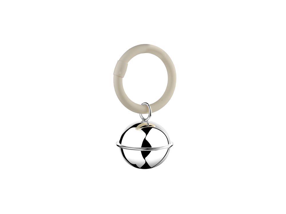 Rassel Ball Fadenrand am Ring 9x5 -5x3cm 925er Silber