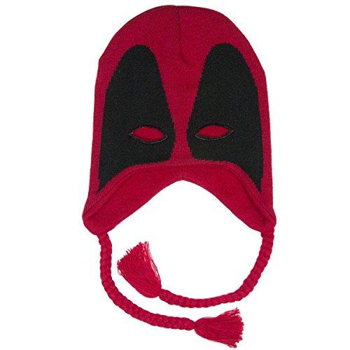 BIOWORLD Marvel Deadpool Mask Knit Laplander (Real Costume Iron Man)
