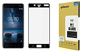 Nokia 8 IMAK Full Covering Tempered glass screen Protector - Black.