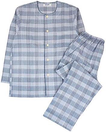 (グンゼ)COOLMAGIC 紳士長袖・長パンツパジャマ ひんやり肌ざわり チェック柄 SF2140