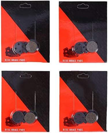 4ペア ディスクブレーキパッド マウンテンバイク用ブラックの高品質樹脂製セミメタルディスクブレーキパッド