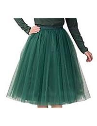 Women's Short Vintage Petticoat Skirt Ballet Bubble Tutu Multi-colored