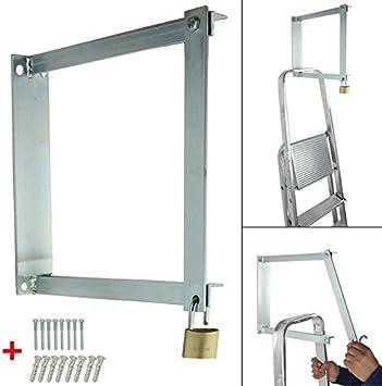 Soporte de pared para escaleras abschließbar Acero galvanizado Escalera telescópica de aluminio telescópica (multiusos: Amazon.es: Bricolaje y herramientas