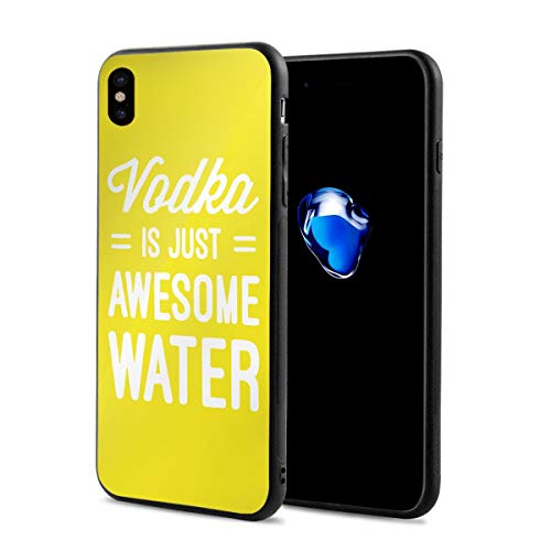 King Dare Vodka is Just Awesome Water iPhone Xs Case/iPhone X Case Soft TPU Shell Full Protective Bumper Anti-Scratch Case Enhanced Grip Protective Defender Cover ()