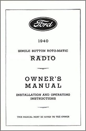 1940 FORD RADIO FACTORY OWNERS INSTRUCTION & OPERATING ...  Ford Wiring Diagram on