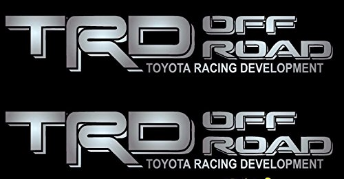 US Fast Ship New TRD OFF ROAD Gray Black Decals Vinyl Stickers Graphics Letters Side Toyota Tacoma 4x4 Pickup Truck Auto Car Compatible Use