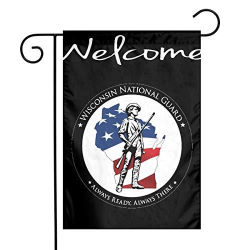 (WUWEJHYQSE Garden Flag 12 X 18 Inches, Wisconsin National Guard Home Garden Flag 12 X 18 Inch)