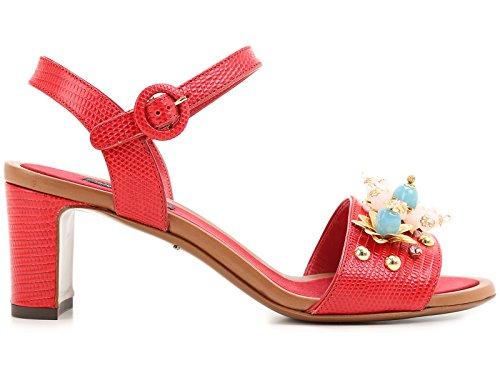 CR0163AD36880303 Cuero Gabbana Dolce E Rojo Mujer Sandalias wA4FBqzW