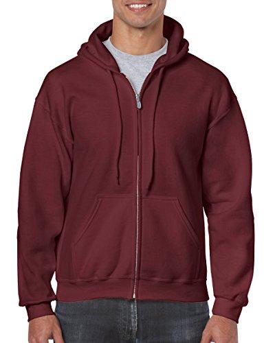 2008 Zip Hoodie - Gildan mens Heavy Blend 8 oz. 50/50 Full-Zip Hood(G186)-MAROON-XL