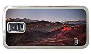 Hipster best Samsung Galaxy S5 Cases alamut mountains PC Transparent for Samsung S5