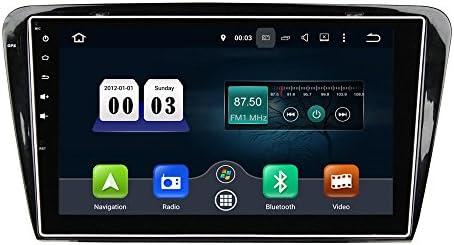 KUNFINE Android 9.0 8核自動車GPSナビゲーション マルチメディアプレーヤー 自動車音響 スコダ SKODA Octavia 2014 2015 自動車ラジオハンドル制御WiFiブルースティスト