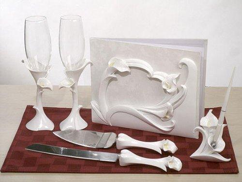 - Calla Lily Theme Bridal Accessories Set C400403 Quantity of 1