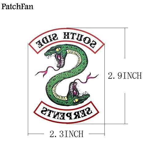 (TrustBT 5Pcs/Set Riverdale Southside Serpent DIY Cool Temporary Body Art Tattoo Sticker for DIY Shoulder Arm)