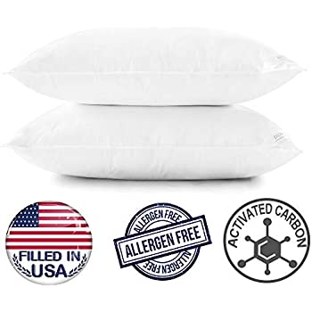 Amazon Com Downluxe Bed Pillows For Sleeping Queen 2