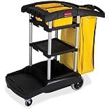 Rubbermaid Commercial Products Cleaning Cart,High Cap,4 Casters,21-3/4quot;x49-3/4quot;x38-3/10quot;