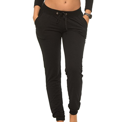[E308P-BK-S] Coco-Limon Womens Jogger, Fleece, Rib Trimming, Side Pockets, Black, Small - Cheap Skin Suit