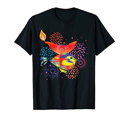 Diya Fireworks And Color Festive Diwali tshirt by Happy Diwali Tshirts