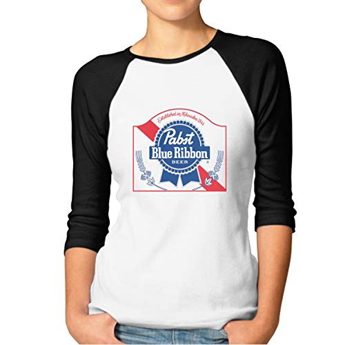 KLA2000 Women's T-Shirts PBR Pabst Blue Ribbon Beer for sale  Delivered anywhere in Canada