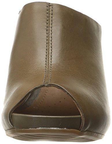 Bomba de diapositivas Clarks Okena Chic Khaki Leather