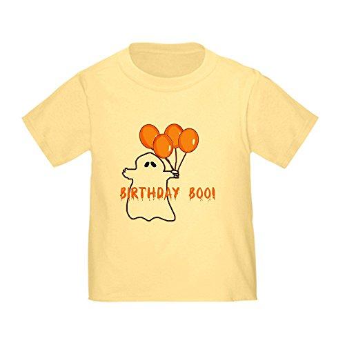 CafePress - Halloween Birthday Boo Toddler T-Shirt - Cute Toddler T-Shirt, 100% Cotton Daffodil -