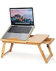 Bambus laptop stół regulowany, taca na kolana taca do serwowania łóżka stół śniadaniowy składany stolik kawowy stolik do herbaty łóżko stojak na kolana półka do czytania półka taca stojak