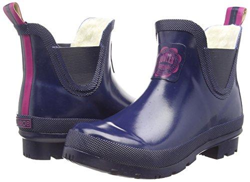 Joules Wellibob - botines bajos con forro cálido de goma mujer Azul (French Navy)