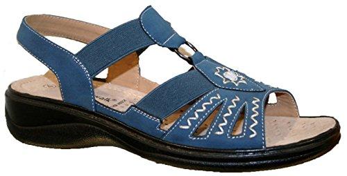 Cushion Walk - Sandalias de vestir de Material Sintético para mujer Azul - azul
