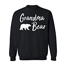 Promotion & Beyond Grandma Bear Text Funny Gift Crewneck Sweatshirt