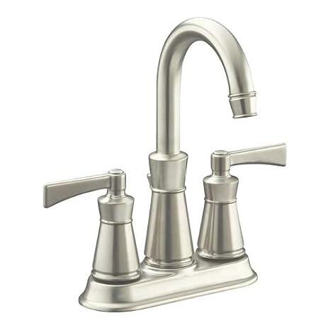 Kohler K-11075-4 Archer Centerset Bathroom Faucet - Free Metal Pop ...