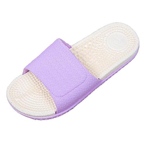 Classic Pink Mujer/Hombre Baño Slippers Super Suave Antideslizante Ducha Verano Sandalias Casa Piscina Playa Zapatos Púrpura