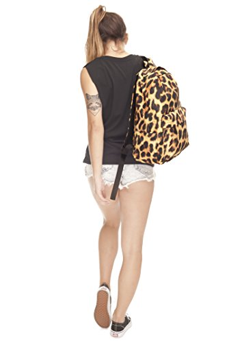 Luggage Women's Cabin Gym School Fringoo Rucksack Fur Backpack Panther Printed Travel Fully wpxHqd071