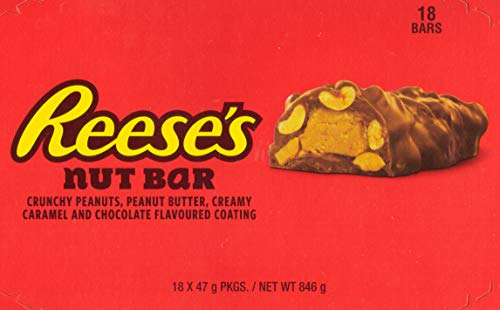 Reese's Chocolate Peanut Butter Caramel Crunchy Nut Bar Snack | 1.65 Ounce (18 Pack) by Reese's