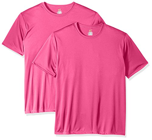 Hanes Men's Sport Cool DRI Performance Tee, Wow Pink, Large