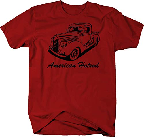 (American Hotrod Ford Chevy 1940's 1950's Pickup Truck Custom Lowered Tshirt - Large )